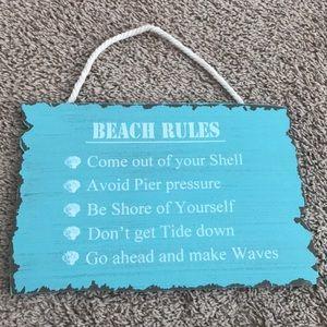 Beach Home Decor Sign